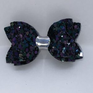 Blue And Purple Chunky Glitter Bow
