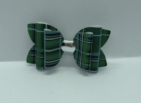 Green Tartan Bow