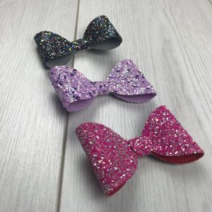 Three Bow Glitter Surprise