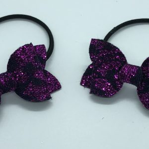 Purple Glitter Lace Small Bow