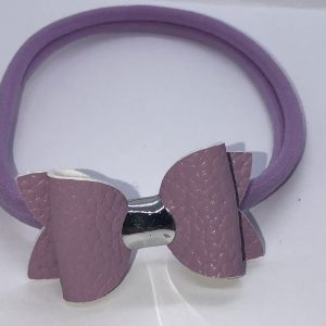 Lilac Leatherette Bow
