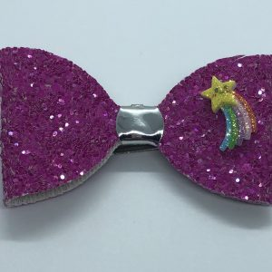 Pink Glitter with Shooting Star Bow