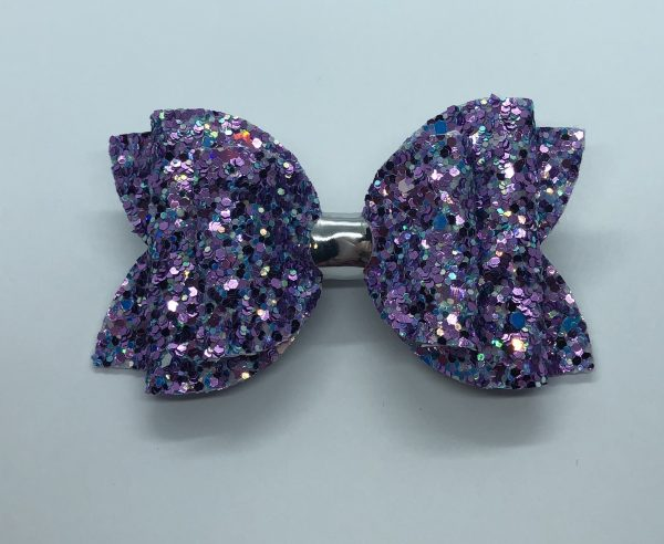 Purple and Blue Glitter Large Bow