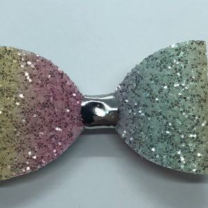Rainbow Glitter Bow