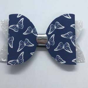 Butterflies and Glitter Large Bow
