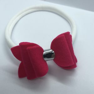 Hot Pink Wool Medium Soft Hairband