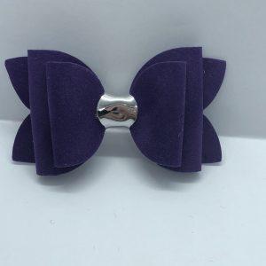 Purple Suede Medium Bow