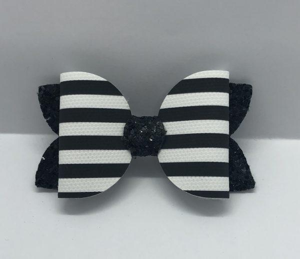 Black and White Medium Bow