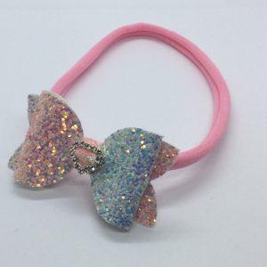Rainbow Pastel Glitter Soft Headband
