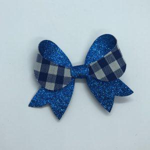 Blue Gingham Bow