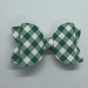 Gingham Green Medium Bow