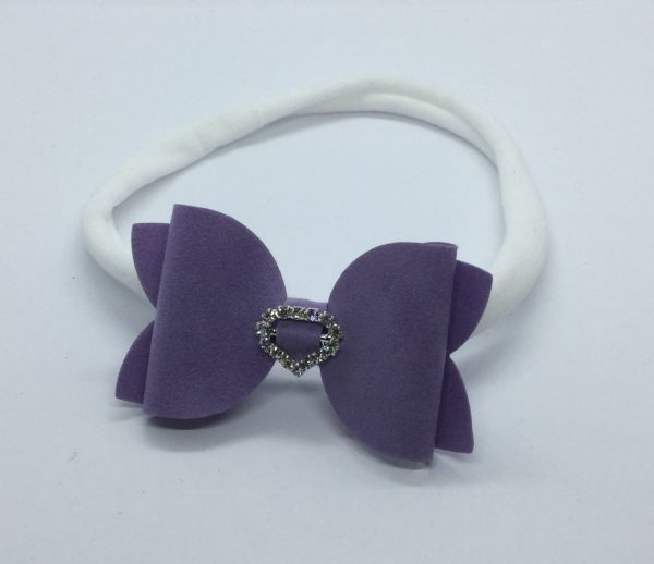 Purple Suede Soft Headband