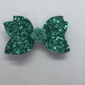 Green Glitter Medium Bow