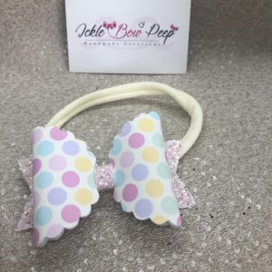 Multi-Coloured Spots and Glitter Nylon Headband