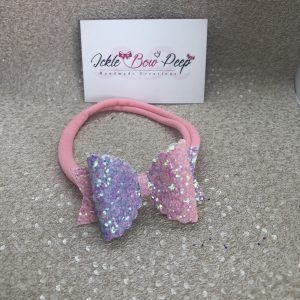 Pastel Pink and Purple Nylon Headband