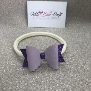 Purple Suede and Glitter Nylon Headband