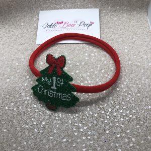 My 1st Christmas Glitter Headband