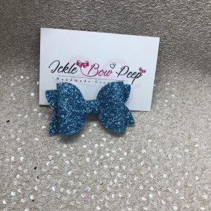 Blue and Pink Glitter Medium Bow