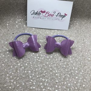 Pale Lilac Glitter (Pair)