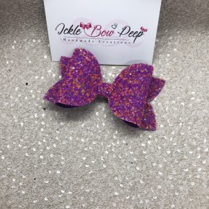 Purple and Pink Glitter Large Bow