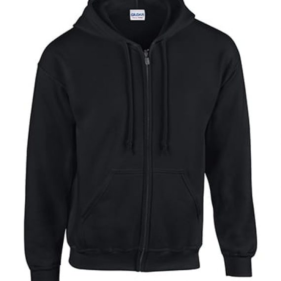 Adults Gildan Heavyweight Zipped Hoodie