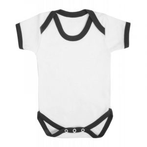 Contrast Short Sleeve Baby Vest