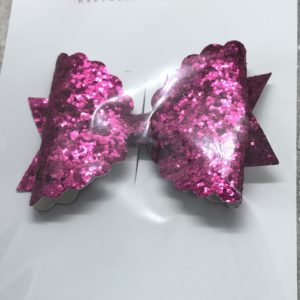 Bright Pink Scalloped Large Bow