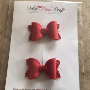 Red Satin Hair Bobbles