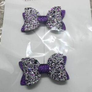 Purple Glitter (Pair)