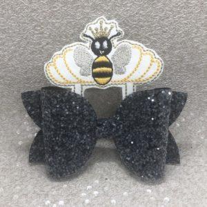 Black Bumblebee Large Scalloped Bow