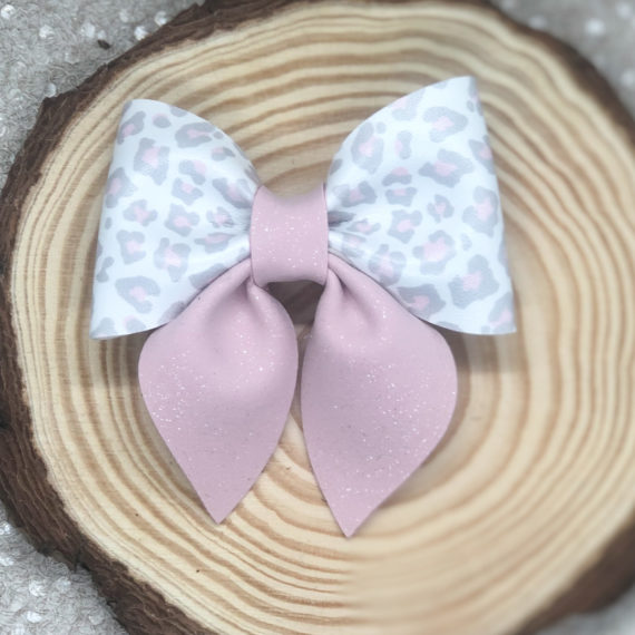 Leopard and Pink Pinch Bow