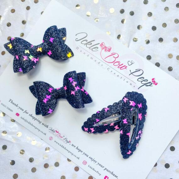 Fiver Friday - Black Glitter and Butterflies